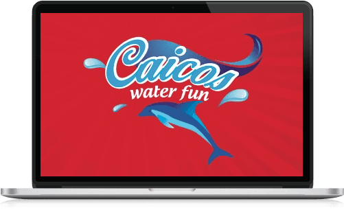caicos water fun computer screen Logo
